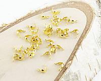 Зажим ракушка золото 8мм  (20штук) (товар при заказе от 200 грн)