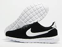 Кроссовки мужские Nike Roshe Daybreak x fragment черные с белым значком (найк)