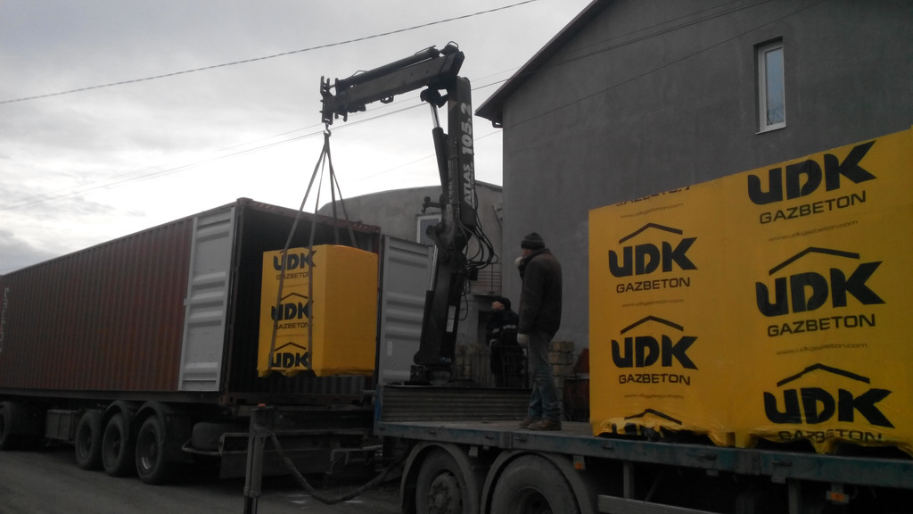 Поставка газобетонных блоков ЮДК -1