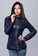 Женская демисезонная куртка. Код модели К-66-12-16. Цвет темно синий.