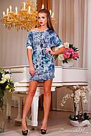 Женское короткое летнее платье-туника ткань микромасло