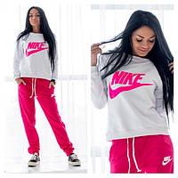 """Женский спортивный костюм """"Nike"""" розовый OS-121"""