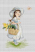Набор для вышивания нитками Тюльпаны