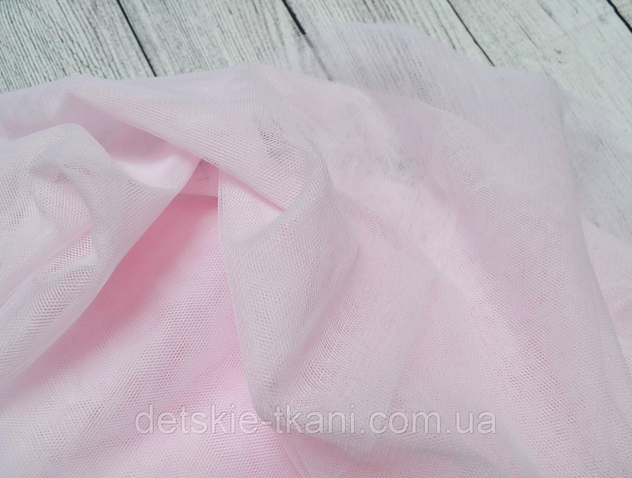 Лоскут мягкого фатина розового цвета 180*62 см.
