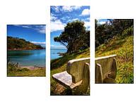"""Картина из 3-х частей декор на холсте """"Вид на море"""", фото 1"""