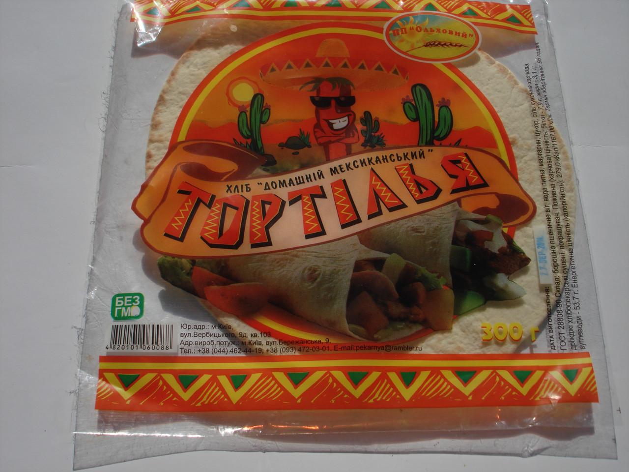 """Хлеб """"Домашний мексиканский """"Тортилья"""""""