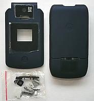 Корпус для телефона Motorola V3X, High Copy, full, тёмно-синий