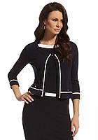 Женская кофточка темно-синего цвета с рукавом три четверти. Модель 210083 Enny, весна-лето 2016.