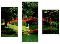 "3-х модульная картина  ""Китайский мостик"", фото 1"