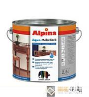 Alpina(ТМ Альпина) Aqua-Mobellack Водоразбавляемый мебельный лак,2.5л