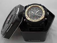Часы мужские G-Shock - Gulfmaster Gold, стальной безель, стальной бокс
