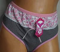 Трусы женские Турция XXL хлопок розово-черные