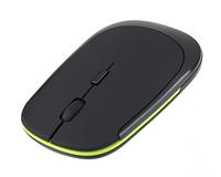 USB мышка беспроводная с зеленой окантовкой плоская wireless