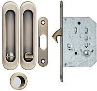 Ручка для раздвижных дверей с мех. WC SIBA античная бронза