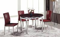 Стол+на кухню круглый ТВ66-1 рубин, 60/100*100*75 см (раскладной)