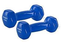 Гантели для фитнеса Profi, виниловые 2 шт., по 1,5 кг, профи. , фото 1