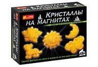 Набор научного творчества Кристаллы на магнитах (желтые)