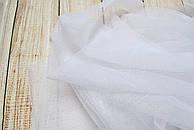 Лоскут мягкого фатина белого цвета 130*180 см.