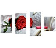 """Стильные картины """"Роза на книге"""". холст, фото 1"""