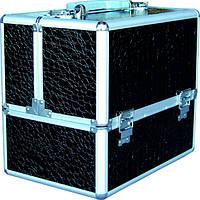 Чемодан для мастера раскладной металлический чёрный CM-332 YRE, кейс для мастера купить в Харькове