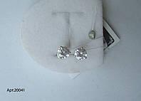 Серебряные гвоздики на закрутке