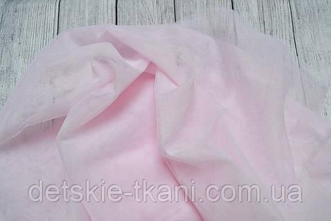 Мягкий фатин розового цвета, ширина 180 см
