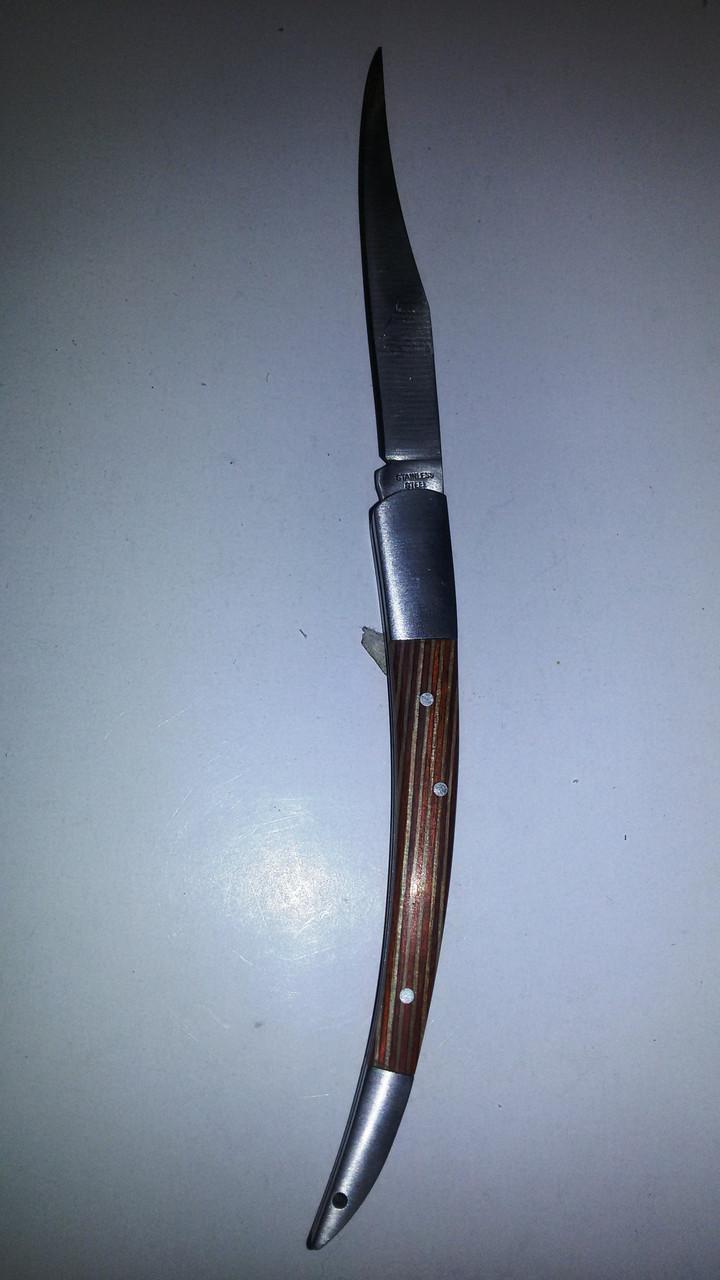 Нож раскладной  бамбук