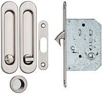 Ручка для раздвижных дверей с мех. WC SIBA мат.никель