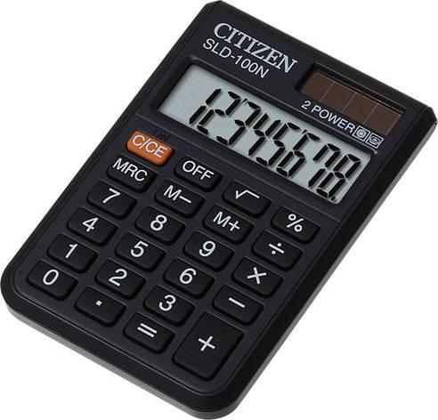 Калькулятор Citizen SLD-100N карманный 8р., фото 2