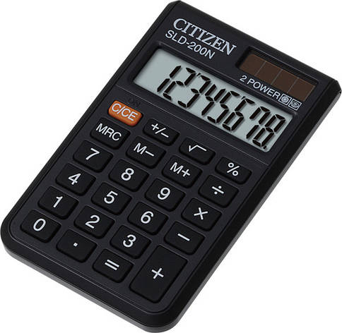 Калькулятор Citizen SLD-200N  карманный 8р, фото 2
