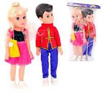 Куклы 2 штуки мальчик и девочка, в пакете 41х19 см 1184