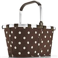 Незаменимая сумка-корзина складная на 22 л Reisenthel BK 6018-mocha dots
