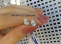 Серебряные гвоздики Капельки, фото 1