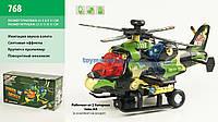 Вертолет на батарейках, звук,светящий в коробке 21х11х8 см 768