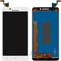 Дисплей (экран) для телефона Lenovo A5000 + Touchscreen Original White