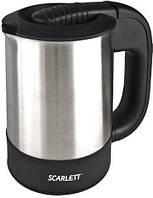 Электрический чайник дорожный, мощностью 1000 Вт,  электрочайник SC-022 Black