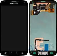 Дисплей (экраны) для телефона Samsung Galaxy S5 Duos G900F, Galaxy S5 G900H + Touchscreen Original Black