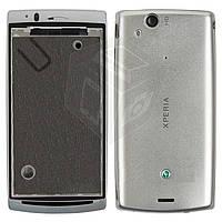 Корпус для Sony Ericsson LT15i/LT18i/X12, серебристый, оригинал
