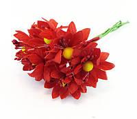 Искусственные цветы красная ромашка