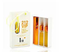 Женский мини парфюм Carolina Herrera 212 Vip (Каролина Эррера 212 Вип), 3*15 мл