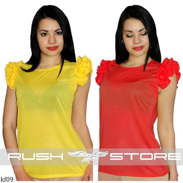 Купить шифоновую блузку с рюшами