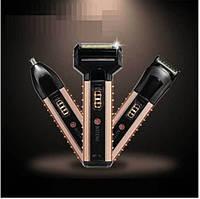 Электробритва Boteng BT-T1 аккумуляторная 3 насадки бритье, стрижка волос, триммер для носа