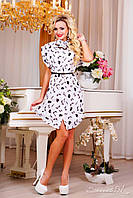 Женское шифоновое платье-туника+большой размер