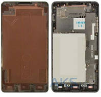 Передняя панель корпуса (рамка дисплея) LG E975 Optimus G Grey