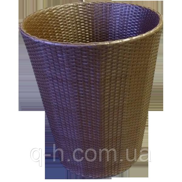 Кашпо плетеное из искусственного ротанга 70 cм