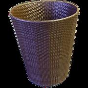 Кашпо плетеное из искусственного ротанга