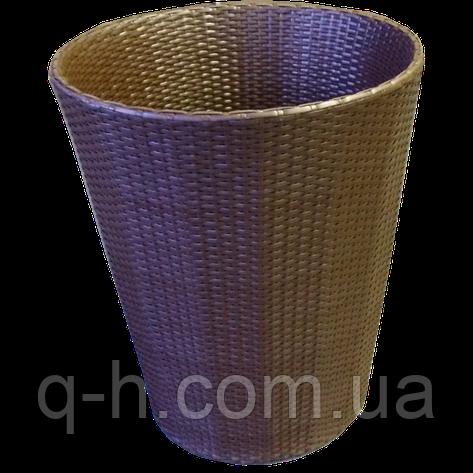 Кашпо плетеное из искусственного ротанга, фото 2