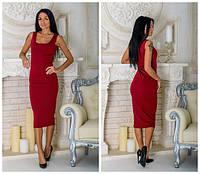 Женское платье-майка  марсала OS-149