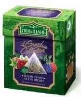 Чай    пакет 20*2г Пірамідка зелений з лісовими ягодами/18шт