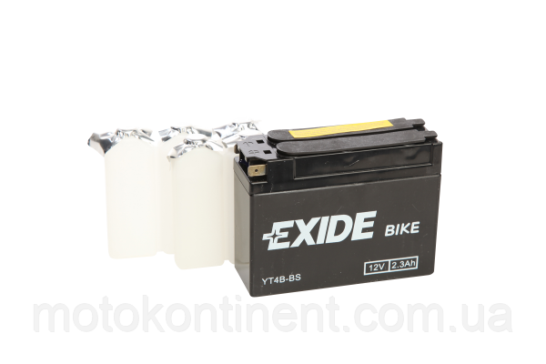 Акумулятор для мотоцикла гелевий EXIDE YT4B-BS= ET4B-BS 2,3 Ah 113x38x85